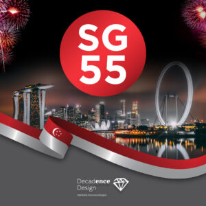 National Day Singapore Wishes From Decadence Design